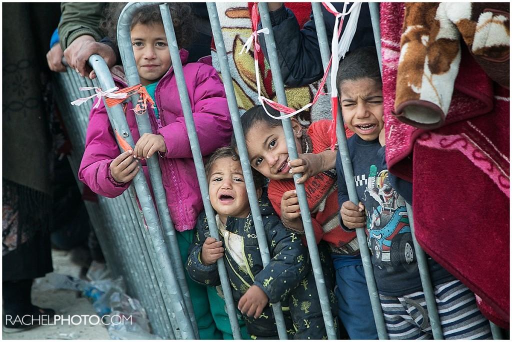 Always in line at Moria refugee camp
